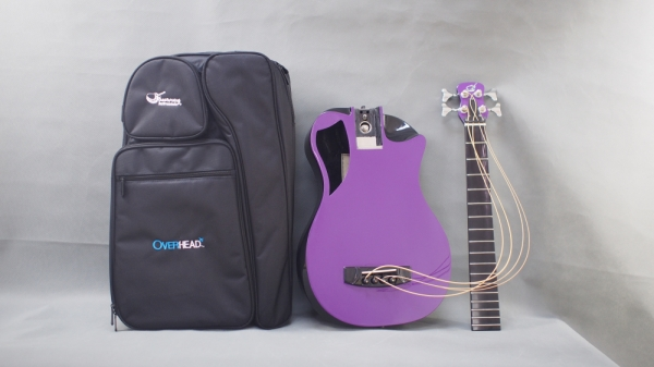 journey overhead collapsible bass travel guitar-collapsed