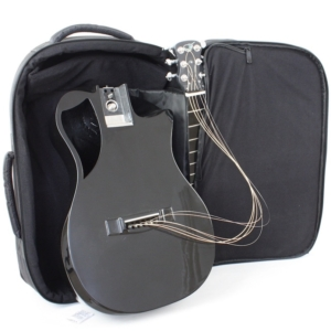 Gloss Black Carbon Travel Guitar – OF660, Journey carbon fiber acoustic travel guitar with case