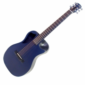 blue top matte carbon fiber travel guitar - OF660B1M