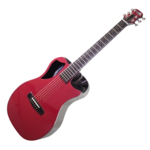 Burgundy Top Matte Carbon Travel Guitar- OF660R1M