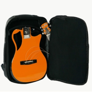 Orange Top Gloss Carbon Travel Guitar – OF660O1
