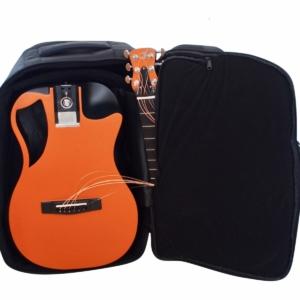 Orange Top Matte Carbon Travel Guitar- OF660O1M