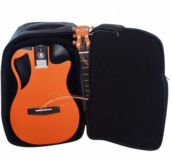 Orange Top Matte Carbon Travel Guitar- OF660O1M